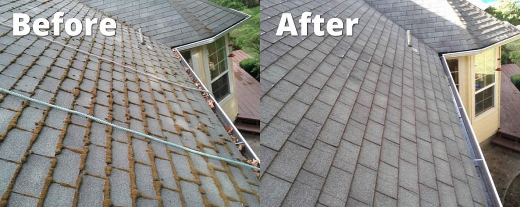 roof-cleaning-service-before and after roof power washing houston